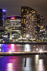 Victoria Harbour at night- Docklands (Bacoon) Tags: docklands melbourne victoria australia victoriaharbour victoriapoint medibank cityofmelbourne 3008