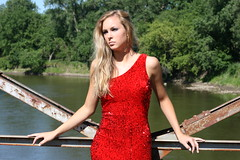 Red Dress Blonde Beauty (PhotoAmateur1) Tags: lighting bridge trees friends red summer portrait people favorite woman hot flower sexy nature water girl beautiful beauty face crimson lady standing wonderful river pose hair fun skinny outside amazing nice fantastic model hands colorful long flickr pretty dress arms angle adult sweet head expression top background gorgeous chest country butt great profile perspective creative young picture adorable style babe lips her figure blonde stunning features chic lovely elegant fabulous technique seductive magnificent confident slender