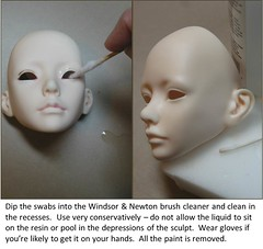 Resin BJD Head Cleaning Tutorial (Robbin With 2 Bs) Tags: alcohol windsor bjd resin abjd newton acetone balljointeddoll isopropyl madwifeintheattic