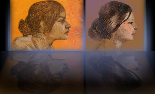 "Las Madeleines escuchando la soleada soledad, descripciones de Henri de Toulouse Lautrec (1889) y Pablo Picasso (1904). • <a style=""font-size:0.8em;"" href=""http://www.flickr.com/photos/30735181@N00/8805146287/"" target=""_blank"">View on Flickr</a>"