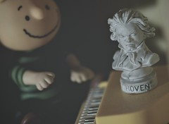 Schroeder and Beethoven - Day 142/365 (guzzphoto) Tags: nikon peanuts beethoven 365 schroeder day142 ludwigvanbeethoven 105mm project365 365project d5000