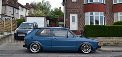 Side on! (smith-jack) Tags: rabbit vw golf volkswagen low stance mk1 vabric fifteen52