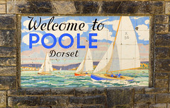 Welcome! (SteveJM2009) Tags: uk wall boats 1 border may tiles 1950s dorset gateway welcome yachts seafront poole stevemaskell 2013 poolepottery cartertiles 113in2013 arthurnickols welcometopooledorset