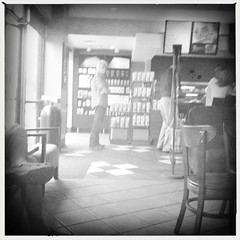 Mr Coffee gettin our coffee @ STARBUX right now Fatherz Day (NancyEMills) Tags: hipstamatic standardflash buckhorsth1lens aobwfilm