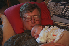 Grandpa and Grandson (erikrasmussen) Tags: sleeping ian paul grandfather grandpa grandson napping