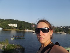 By the river.. (Ms Kat) Tags: selfportrait me river prague michelle praha 365days mrowrr 203365