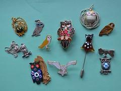 Owls (JuliaC2006) Tags: necklace pin brooch jewellery owl