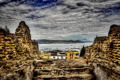 The archaeological site of Baia (Sea view from a glimpse) (thanks for 1.000.000+ views) Tags: travel sea vacation sky italy history nature canon landscape photography volcano ancient italia sigma napoli naples historical vesuvius archeology hdr photographyforrecreation vigilantphotographersunite