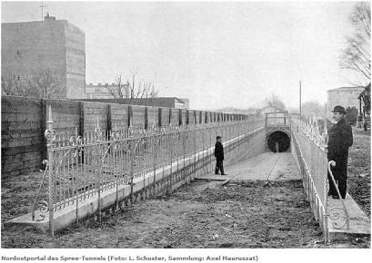 Haltestelle Knüppelbahn Stralau Kirche 1899