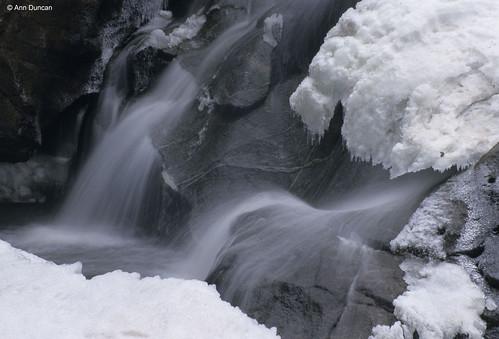 Photo - Winter at Boulder Falls - close up.
