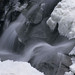 Winter at Boulder Falls - close up.