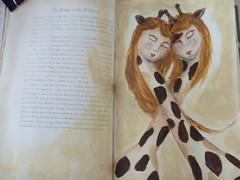 journal twins (SonyaBatten) Tags: art whimsy folkart mixedmedia journal giraffes whimsical artjournal whimsicalanimals janedavenport whimsicalpainting joynal