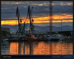 puerto pesquero  fishing port  #7 (www.xavierfargas.com) Tags: sea espaa water port sunrise boats puerto muelle mar dock spain agua euro