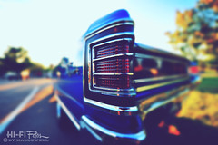 Edge of Chevelle (Hi-Fi Fotos) Tags: auto blue light red classic chevrolet corner vintage point nikon focus dof bokeh antique tail ss wide sigma chevelle retro chevy chrome american fotos 1967 8mm hifi 67 musclecar supersport superwide d5000 816mm hallewell