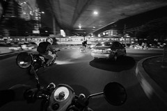 Kalibata Under Pass (alchroniclez) Tags: street bike indonesia jakarta biker 1022mm buncit gatsu scoopy kalibata fromthebike mampang bangder