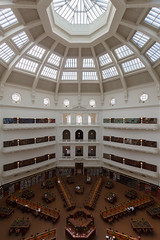 Domed Reading Room (andrewOZimages) Tags: architecture reading melbourne books historic tables lamps statelibrary