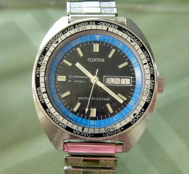 vintagemenswatch vintageclintonwatch clintonselfwindingwatch
