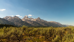 An afternoon in the Tetons (Bruce Wayne Photography) Tags: park blue snow mountains sunshine landscape skies grand national 28 wyoming teton d800 1424