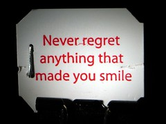 Find a Reason to Smile... (Heartlover1717) Tags: red white black color indoors cardstock saladatea pithysaying neverregretanythingthatmadeyousmile teabagtag saladataglines minibinderclip