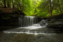 Respite (Matt Champlin) Tags: summer usa ny canon waterfall cool nice peaceful gorge refreshing cascade lickbrook pristine 2014 ithacany sweedlerpreserve