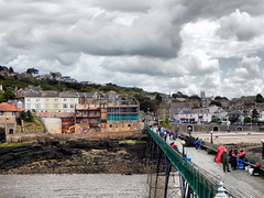 Clevedon Pier, Somerset (photphobia) Tags: uk sea sky cloud clouds river pier vanishingpoint seaside cloudy perspective somerset riversevern seafront dramaticsky clevedon clevedonpier severnestuary