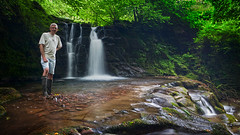 Banish the demons! (opobs) Tags: wales river waterfall shorts wellingtonboots brecon wellies mikestokes nantcwmllwch