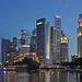 Singapore - skyscrapers at night