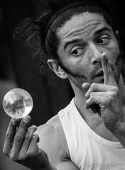 Tell me how will be tomorrow (Lalykse) Tags: street bw white black annecy noir streetartist juggler rue blanc minstrel jongleur 70300 nikond3200 artistederue