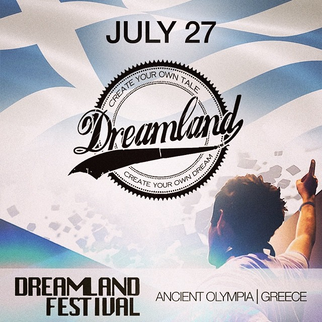 Next up, I'll be performing at Dreamland Festival Greece July 27th, catch me there!