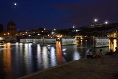 (Loc Milliere) Tags: paris seine night pont nuit d800 28mmf18 parisbynight nikond800 nikonafs28mmf18