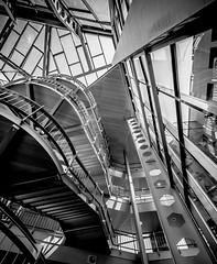 look up (henny vogelaar) Tags: bw netherlands architecture stairs van hank hilversum alberts huut