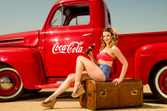 Holly H Ford Pickup (Rich 999) Tags: truck vintage model fifties pickup holly bikini cocacola pinup harding richardpaicephotographyrichpicsukyahoocouk