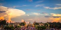 Sunset on Main (Street USA) (Icedavis) Tags: world wedding sunset evening honeymoon dusk magic kingdom disney disneyworld cinderella walt magickingdom cinderellascastle