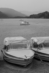 Lake Titi Boats (Tessalina Sofia Photography) Tags: bw lake black forest germany deutschland boat schwarzwald titi titisee