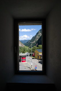 view over the Swiss border to Italy