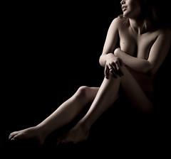 maeva_5931 (Camera Obscura Photoblog) Tags: black sexy girl studio nude shadows body curves corps delicate nue courbes