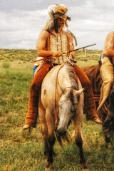 Warrior (Flickr Goot) Tags: film montana mt july nativeamerican warrior 1998 reenactment hardin battleofthelittlebighorn