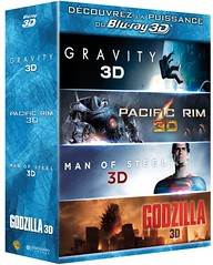 Godzilla + Gravity + Pacific Rim + Man Of Steel (Blu-ray 3D/Blu-ray) (France) (gigan72ofTohoKingdom) Tags: man set movie french 3d pacific steel release godzilla pack gravity foreign rim 2d multi combo 2014 bluray 2013 of