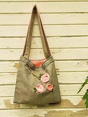 Laura bag (medioeuro) Tags: tote fabricflowers fabricroses