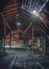 Let Your Light Shine Through, 2014.08.26 (Aaron Glenn Campbell) Tags: summer sunlight barn rural shadows pennsylvania decay interior sony country kitlens august shade vacant tuesday lehman weathered sunrays hdr lightrays circularpolarizer nepa 26th deterioration incamera 2014 tiffen edr luzernecounty backmountain cpfilter hayfieldfarm colorefexpro mirrorless barnno3 a6000 epz1650mmf3556oss nikcollection analogefexpro ilce6000 6ev