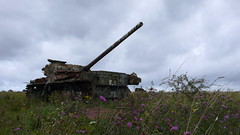 tank 1, Imber (looper23) Tags: cold war tank main august battle ranges salisbury range plain tanks 2014 imber