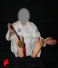 DSC00033 (footboymarc) Tags: male feet beautiful gold for martial arts most fighters soles