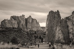 Smith Rock B&W (shanecotee) Tags: blackandwhite oregon canon is bend bnw 6d f4l 24105mm