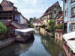 Colmar France 095 (saxonfenken) Tags: houses france yellow river canal medieval colmar alsace halftimbered 6930 15challengeswinner thechallengefactory gamesweep yourock1st herowinner pregamesweepwinner 6930city