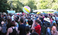 Twin Shadow Crowd Plays Ball (jiff89) Tags: seattle music beach festival ball 1 audience live crowd band center september monday bumbershoot 2014