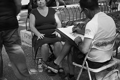 Street Photography (M3la88) Tags: canon eos chair artist near colosseum granny the 70d