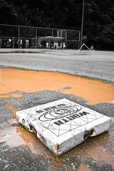 Rain Delay (O'Quinn Photo) Tags: park toronto ontario game rain youth puddle team mud baseball overcast diamond etobicoke worth base muddy boysofsummer firstbase oquinn sandlot 1stbase rookieball