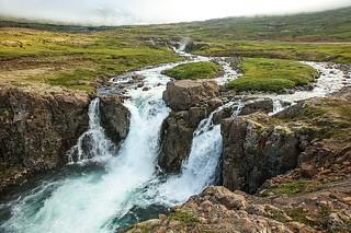 Waterfall at Seyðisfjörður