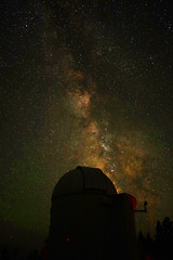 PMO Dome and the Milky Way Galaxy - University of Oregon (Wolfram Burner) Tags: school mountain college pine night oregon way campus photography stem education sony central photojournalism 7 science steam observatory telescope research galaxy astrophotography uo learning physics astronomy alpha burner milky journalism uofo universityoforegon rocketry academic cosmology academics uoregon wolfram pmo galatic alpha7 wolfrm ilce7