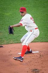 Danny Salazar (Brad Hartig) Tags: ohio usa grass hat nikon uniform baseball united cleveland dirt danny glove indians states tamron d800 salazar